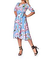 Легкое летнее платье  в нежных цветах, фото 1