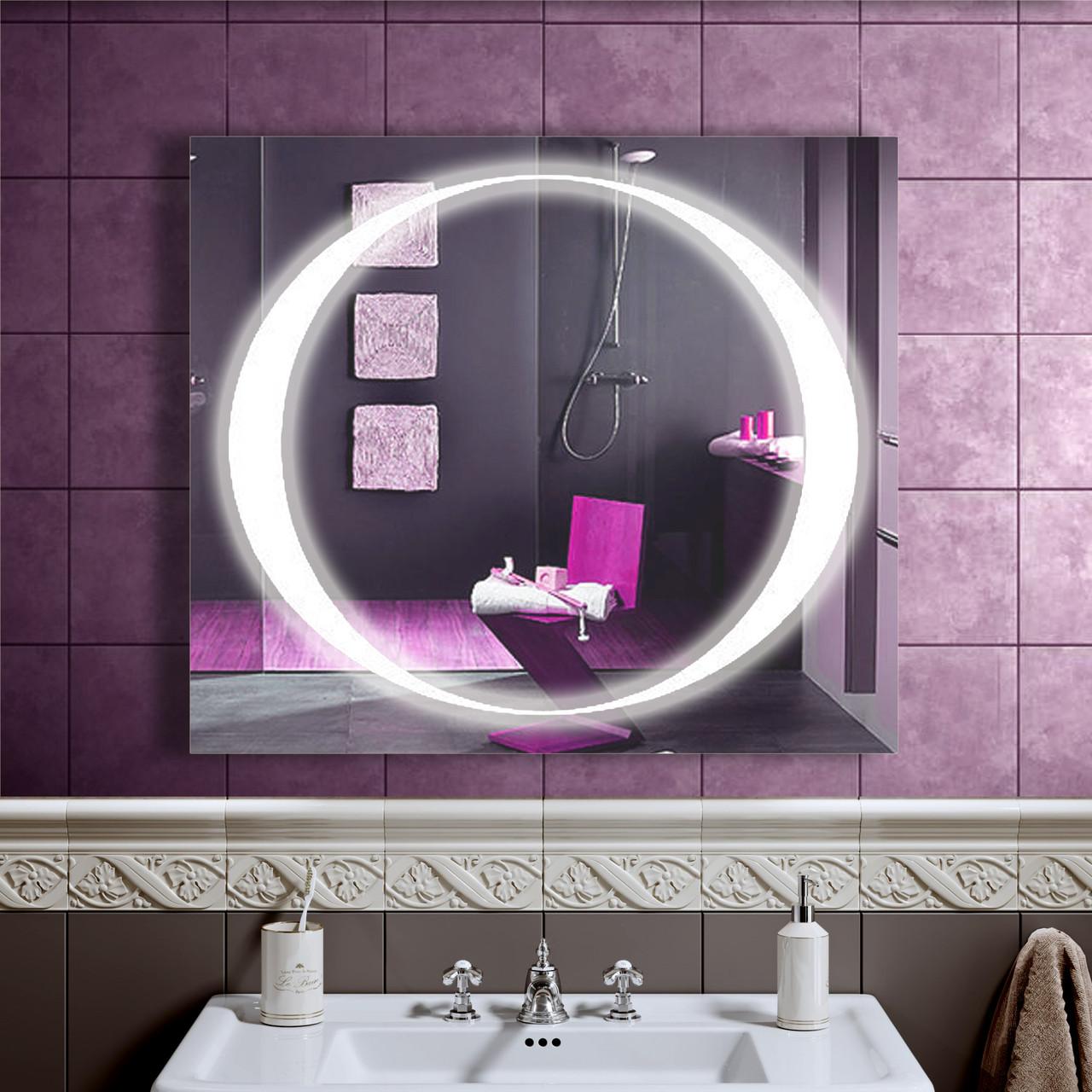 LED дзеркало зі світлодіодним підсвічуванням DV 7580 800х700 мм. дзеркало