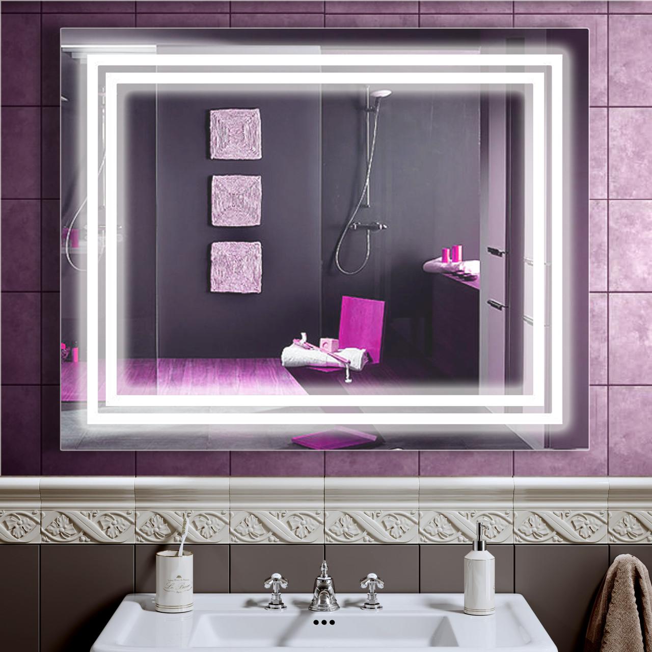 LED дзеркало у ванну зі світлодіодним підсвічуванням DV 7581 1000х800 мм