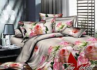 Полуторный комплект постельного белья с Розами, Ранфорс