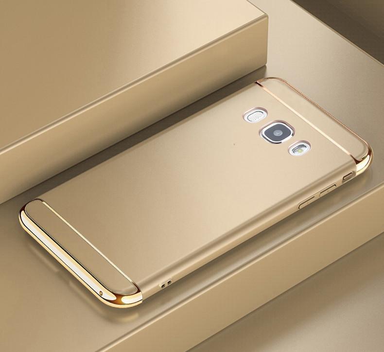 Чехол Fashion для Samsung J7 2016 / J710H / J710 / J710F бампер Gold