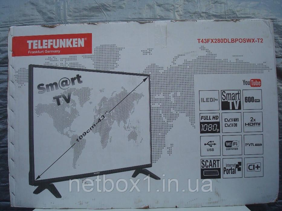 Telefunken T43FX280DLBPOSWX T2 Smart WiFi