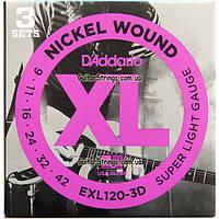 Струны D'Addario EXL120-3D Nickel Wound 9-423 sets, фото 1