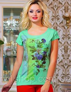 Женская футболка с цветочным рисунком (0759-0760 svt)