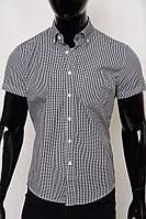 Рубашка мужская с коротким рукавом GS 606087 клетка серая