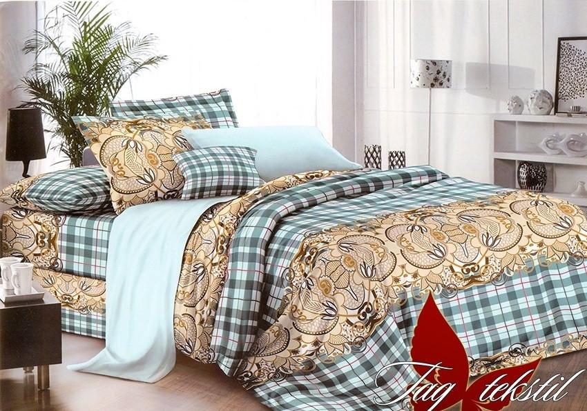 Полуторный комплект постельного белья в Клетку, Поликоттон
