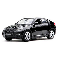 Машинка Meizhi лиценз. BMW X6 металлическая (черный) р/у 1:24 (код 191-104649)