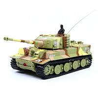 Танк микро Great Wall Toys Tiger со звуком (хаки коричневый) р/у 1:72 (код 191-104692)