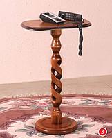 Колона вита під телефон (горіх темний)