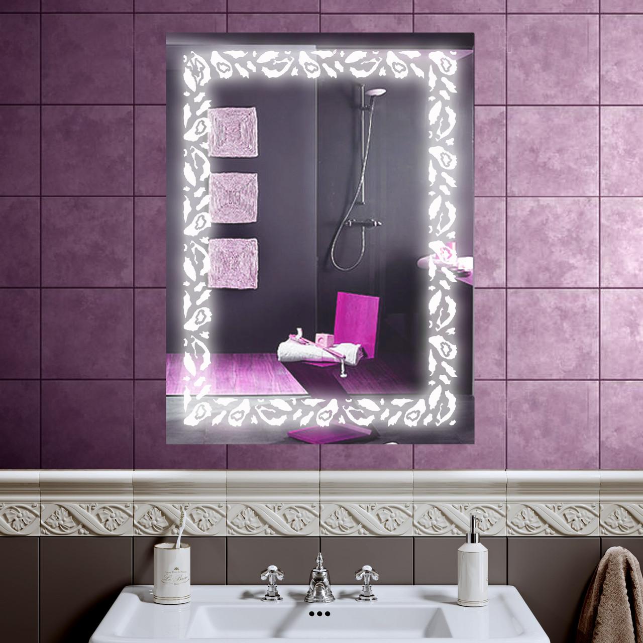 LED зеркало со светодиодной подсветкой DV 7589 600х800 мм. дзеркало