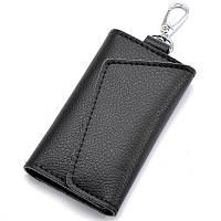 Ключница кошелек из натуральной кожи черная