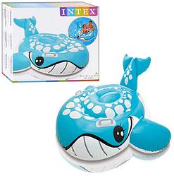 Плотик синий кит. Детские пляжные игрушки. Надувные плотики для купания детей.