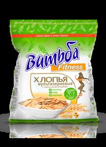 Хлопья мультизерновые витьба fitness с беларуси пшеничные отруби 250г, фото 2