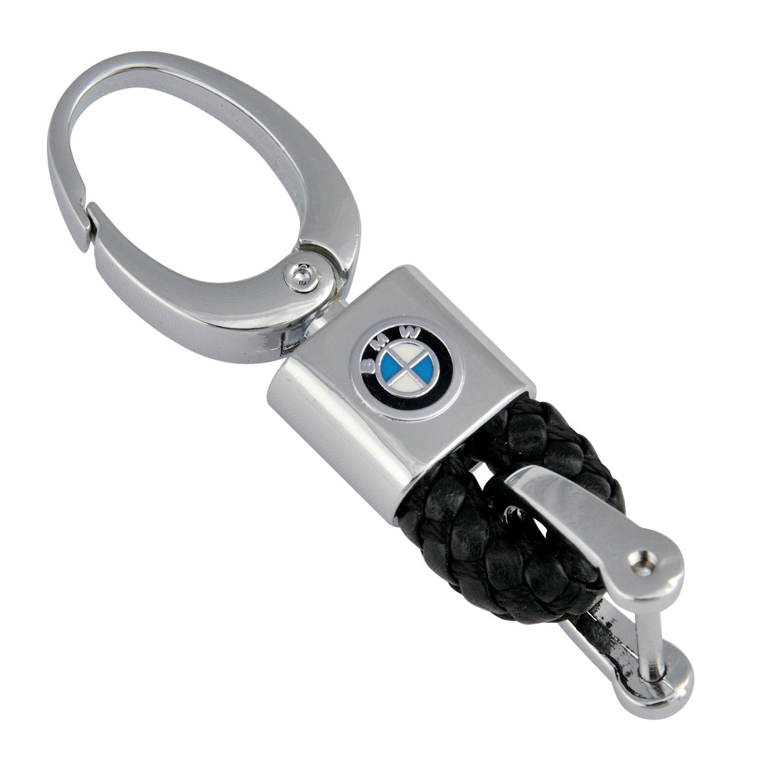 Кожаный брелок-карабин AZU с логотипом BMW