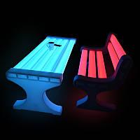 Парковая скамья, лавка,светящаяся LED.