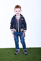 Джинсы для мальчика с подтяжками от 3 до 6 лет, р. 98  Темно-синий