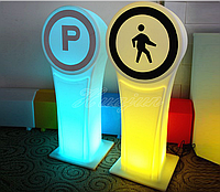 Дорожный светящийся знак в цельном корпусе LED.