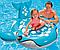 Плотик синий кит. Детские пляжные игрушки. Надувные плотики для купания детей., фото 2