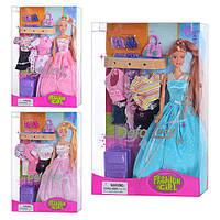 Кукла DEFA 8012 (24шт) с одеждой, 3 вида, в кор-ке, 34-23-6см