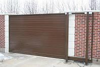 Відкатні ворота 5000х2500 заповнення сендвіч-панелями, фото 1