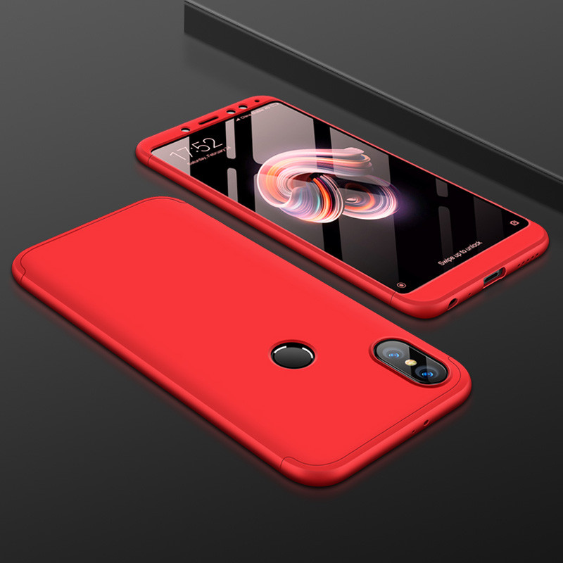 Чехол GKK 360 для Xiaomi Redmi Note 5 / Note 5 Pro  Global бампер оригинальный Red