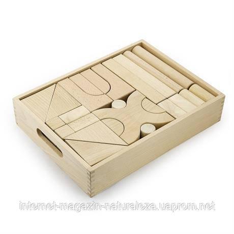 Конструктор Viga Toys Набір будівельних блоків 48 штук