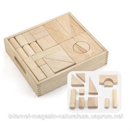 Конструктор Viga Toys Набір будівельних блоків 48 штук, фото 2