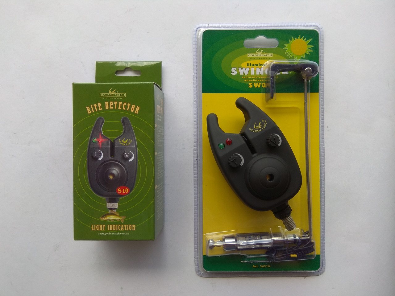 Комплект Golden Catch сигнализатор поклевки S10 + свингер SW02