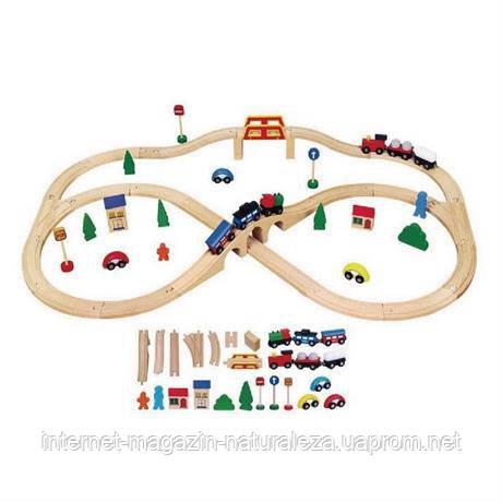 Детская железная дорога Viga Toys ( 49 дет.)