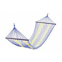 Гамак плетенный усиленный, ширина 150см, длинна 200см, толщина 8мм, фото 1