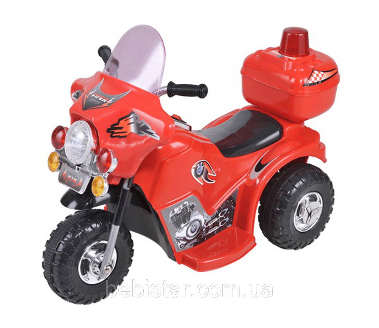 Детский электромобиль-мотоцикл Т-723 красный деткам 3-5 лет
