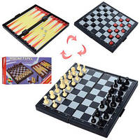 Настільна гра Шахи магнітні 3в1