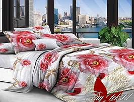 Двуспальный комплект постельного белья с Цветами,, Поликоттон