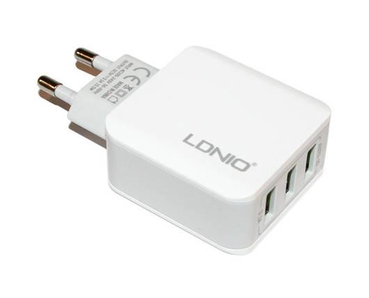 Зарядное устройство LDNIO, White, 3xUSB, 3.1A (A3301), зарядка для смартфона, телефона, фото 2