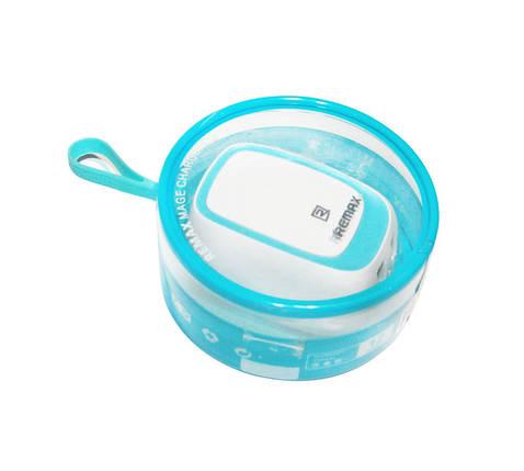 Зарядное устройство Remax 'Mage Charger', White/Blue, 2xUSB, 5V / 2.4A (RP-U23), зарядка для смартфона, телефона, фото 2