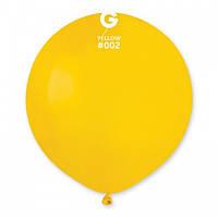 Кулька повітряний 19 дюймів (48 см) пастель ЖОВТИЙ