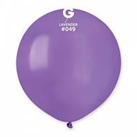 Кулька повітряний 19 дюймів (48 см) пастель БУЗКОВИЙ (ЛАВАНДА)
