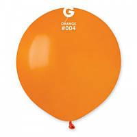 Кулька повітряний 19 дюймів (48 см) пастель ПОМАРАНЧЕВИЙ