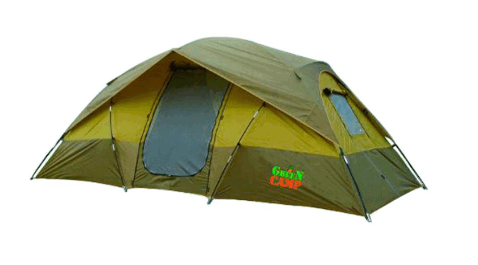 Палатка 1100 Green Camp Туристическая, 4-х местная, двухслойная