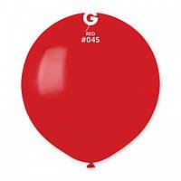 Кулька повітряний 19 дюймів (48 см) пастель ЧЕРВОНИЙ