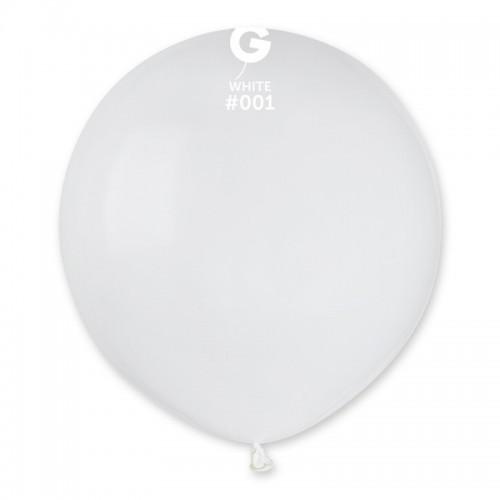 Кулька повітряний 19 дюймів (48 см) пастель БІЛИЙ