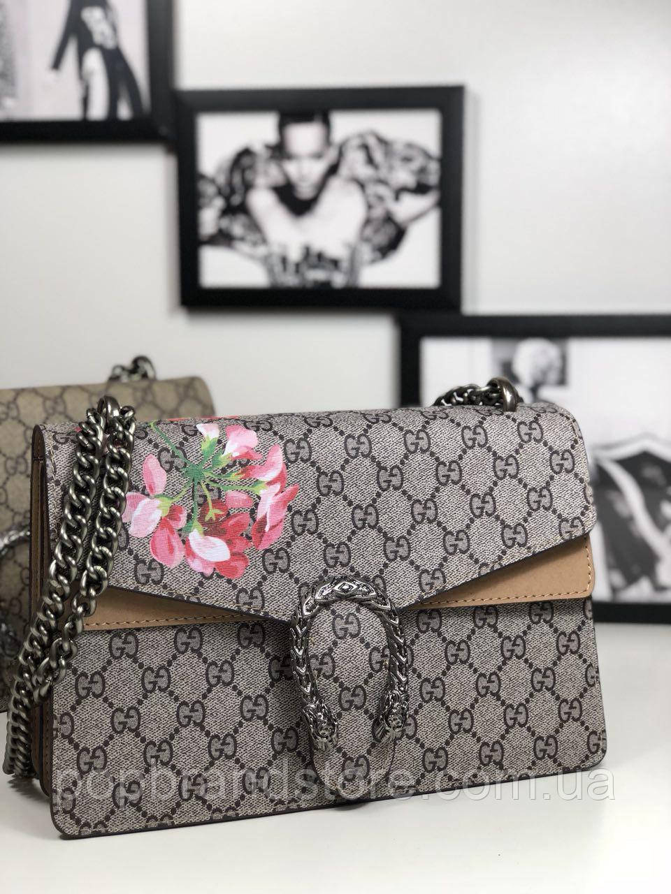 4681886a8a14 Женская сумочка Gucci DIONYSUS BAG LUX цветы (реплика) - Pop Brand Store |  брендовые