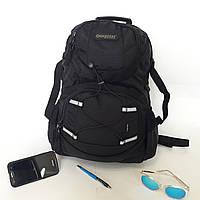 Мужской надежный городской рюкзак 35 л One polar W1312 для ноутбука черный