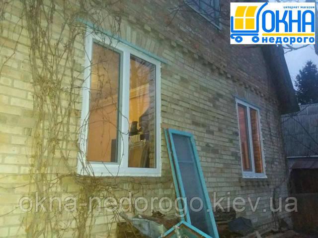 Двустворчатое окно Windom Eco, монтаж в с.Хотяновка