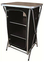 Стол Highlander Easy Fold Camp Cupboard 3 Shelf 925479 черный