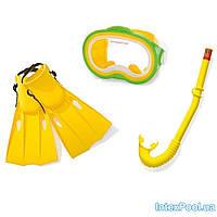 Набор для плавания:маска,трубка,ласты