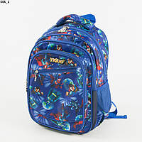 Школьный/прогулочный рюкзак для мальчиков с супергероями - синий - 17-006