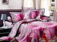 Двуспальный комплект постельного белья с Розами, Ранфорс