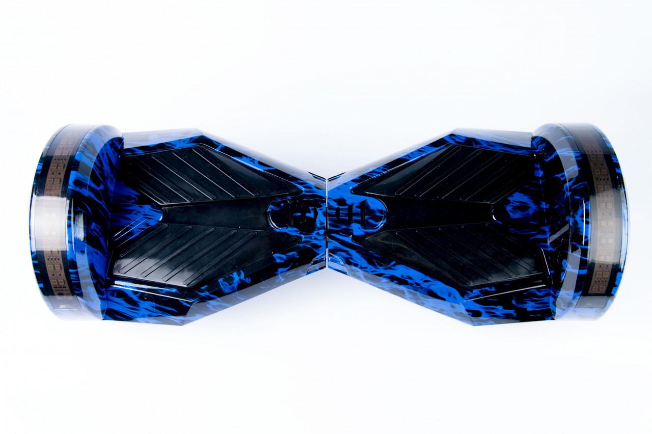 "Smart balance wheel Transformers 8"" гироцикл, гироборд синий огоньTao-Tao App и самобалансом"