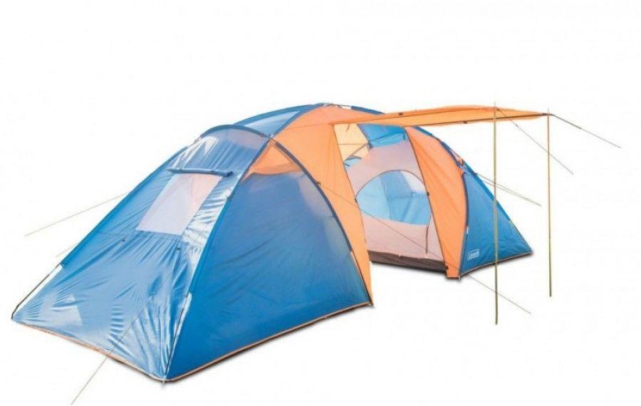 Палатка 1002 Coleman Туристическая 6-х местная кемпинговая  двухкомнатная + тамбур